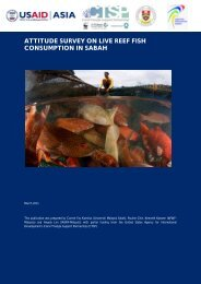ATTITUDE SURVEY ON LIVE REEF FISH CONSUMPTION IN SABAH