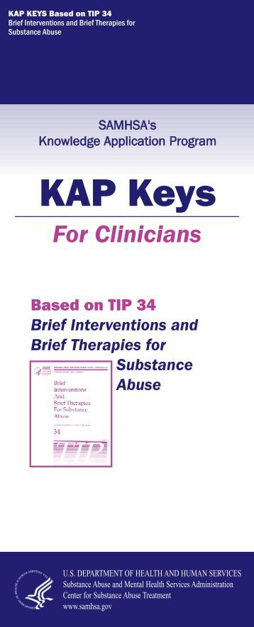 Brief Interventions and Brief Therapies for Substance Abuse