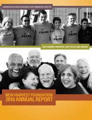 2010 ANNUAL REPORT - New Harvest Foundation