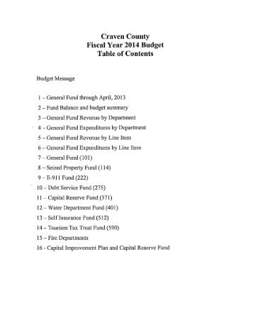 Manager Recommended 2013-2014 County Budget