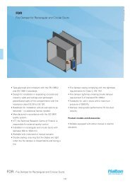 FDR - Fire Damper for Rectangular and Circular Ducts - Halton