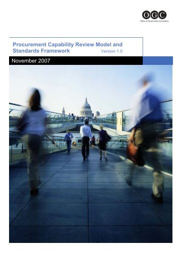 Procurement Capability Review Model and Standards ... - unpcdc