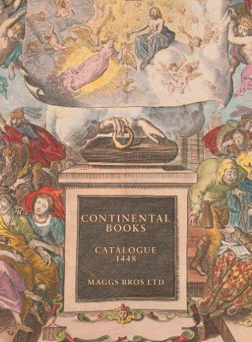 CONTINENTAL BOOKS CATALOGUE 1448 - Maggs Bros. Ltd.