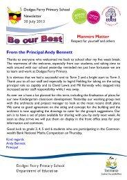 30 July 2013 - Department of Education Schools Websites