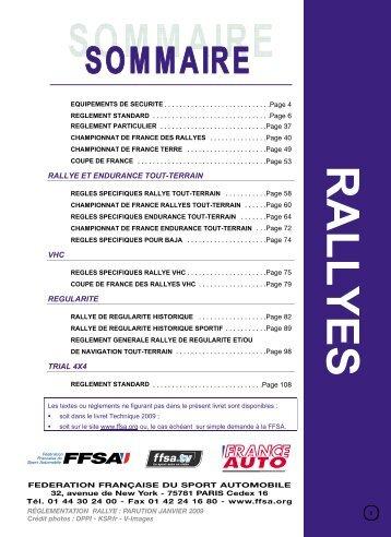 Réglement rallye 2009 - Association GAS