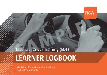 Sample EDT Learner Logbook - Road Safety Authority