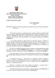 Izvješće o radu Upravnog odjela za gospodarstvo, turizam i ... - Trogir