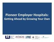 Pioneer Employer Hospitals: - Washington State Hospital Association