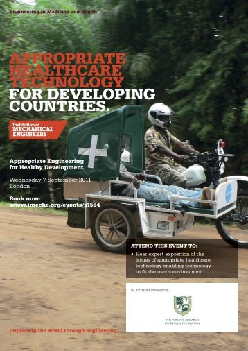 AppropriAte heAlthcAre technology for developing countries.