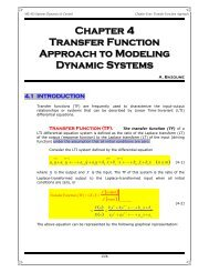 Chapter 4 Transfer Function Approach to Modeling Dynamic Systems