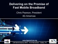 Delivering on the Promise of Fast Mobile Broadband - 4G Americas