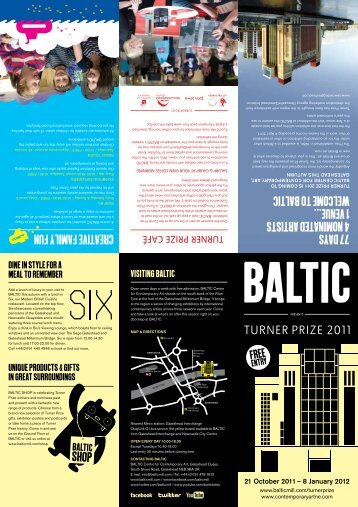 77 days 4 nominated artists 1 venue... welcome to baltic creative ...