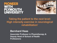 Taking the patient to the next level: High intensity exercise in ... - acpin