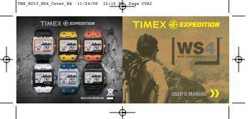 USER'S MANUAL - Timex
