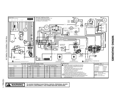 132 Rev. 1 PGB24, 30, 36, Heatcraft Dtfd Wiring Diagram on