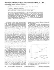 Theoretical performance of very long wavelength InAs/In< inf> x Ga ...
