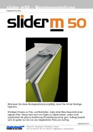 slider m50 – Montageanleitung - Ackutech AG