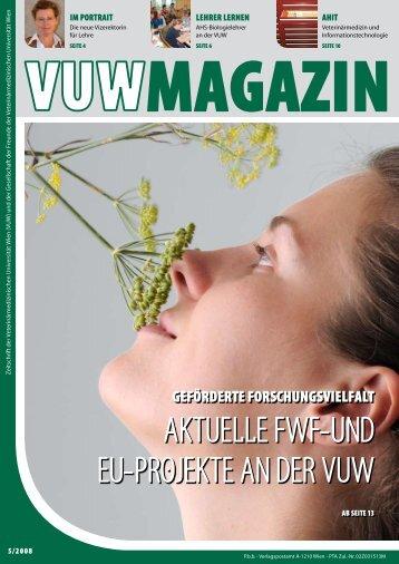 Aktuelle FWF-und eu-Projekte An der VuW - VET-MAGAZIN.com