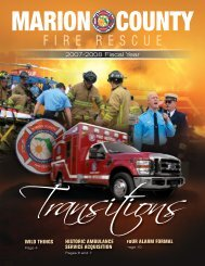 Fire Rescue 2008 Annual Report - Marion County Florida