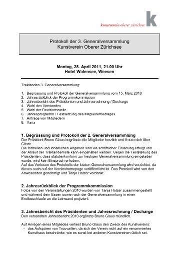 2011-04-28 Protokoll 3 Generalversammlung - Kunstverein Oberer ...