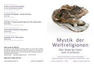 Mystik der Weltreligionen - Kirchenkreis Liebefeld