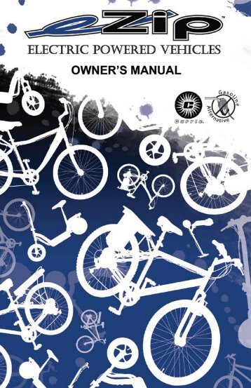 eZIP Chain Driven Scooter Owners Manual - Bicycle Center of Seattle
