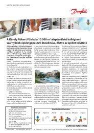 Károly Róbert Főiskola épületgépészeti átalakításáról, bővítéseéről ...