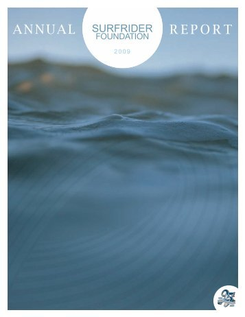 Annual Report 2009 - Surfrider Foundation
