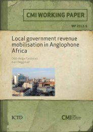 Local government revenue mobilisation in Anglophone Africa - CMI