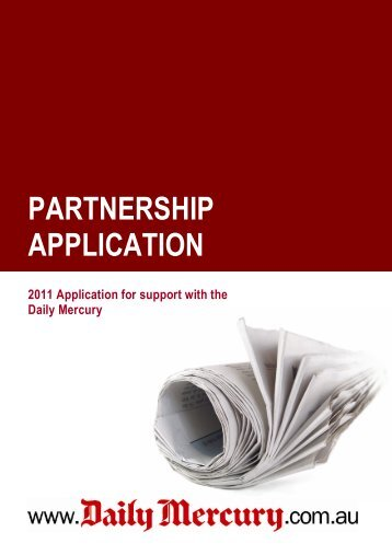 PARTNERSHIP APPLICATION