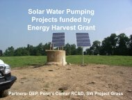 Solar Water Pumping Projects funded by Energy Harvest Grant