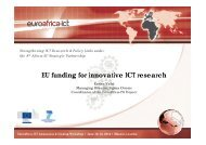 EU funding for innovative ICT research - EuroAfrica-ICT