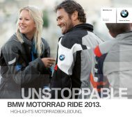 Flyer Highlights Ride & Style 2013 (PDF, 3,5 MB) - BMW Motorrad ...