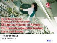 Der österreichische Arbeitsgesundheitsmonitor - Arbeiterkammer