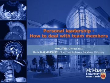 Personal leadership - How to deal with team members - MIR-Online