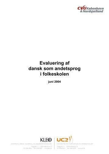 """""""Evaluering af dansk som andetsprog i folkeskolen"""" 2004, (pdf)"""