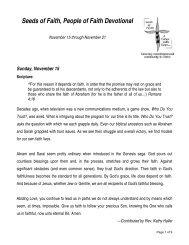 Monday, November 2 - Seeds of Faith