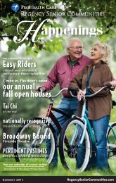 Easy Riders our annual fall open houses - Regency Senior ...