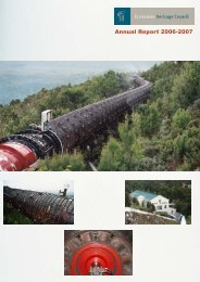 Annual Report 2006-2007 - Tasmanian Heritage Council