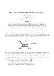 TD : Arbres Binaires de Recherche (A.B.R.) - ISIMA