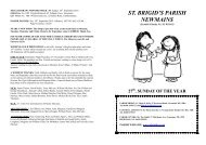 Parish Bulletin Sunday 3rd. October 2010..wps - Saint Brigid's ...