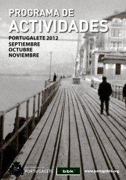 Programa de Actividades: Septiembre-Octubre-Noviembre 2012