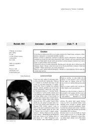 Ročník XVI červenec - srpen 2007 číslo 7 - 8 - Farnost Letohrad