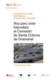 181108-Dossier i nota de premsa nou parc solar del Cementiri de ...
