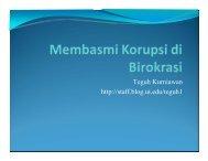 Pengaruh Korupsi/Kualitas Tata Kelola Pemerintahan ... - Blog Staff UI