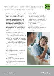Potenzialanalyse in der Personalentwicklung - WIFI Vorarlberg