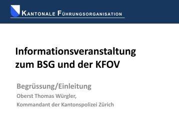 kantonale führungsorganisation - Kanton Zürich