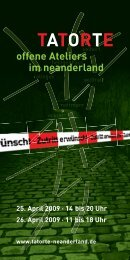 TATORTE offene Ateliers im neanderland 25 ... - Mariele Koschmieder