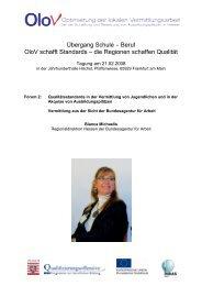 Vermittlung aus der Sicht der Bundesagentur für Arbeit - OloV