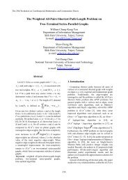 The Weighted All-Pairs-Shortest-Path-Length Problem on Two ...